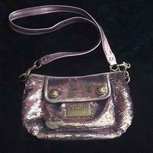 Limited edition coach sequence poppy bag